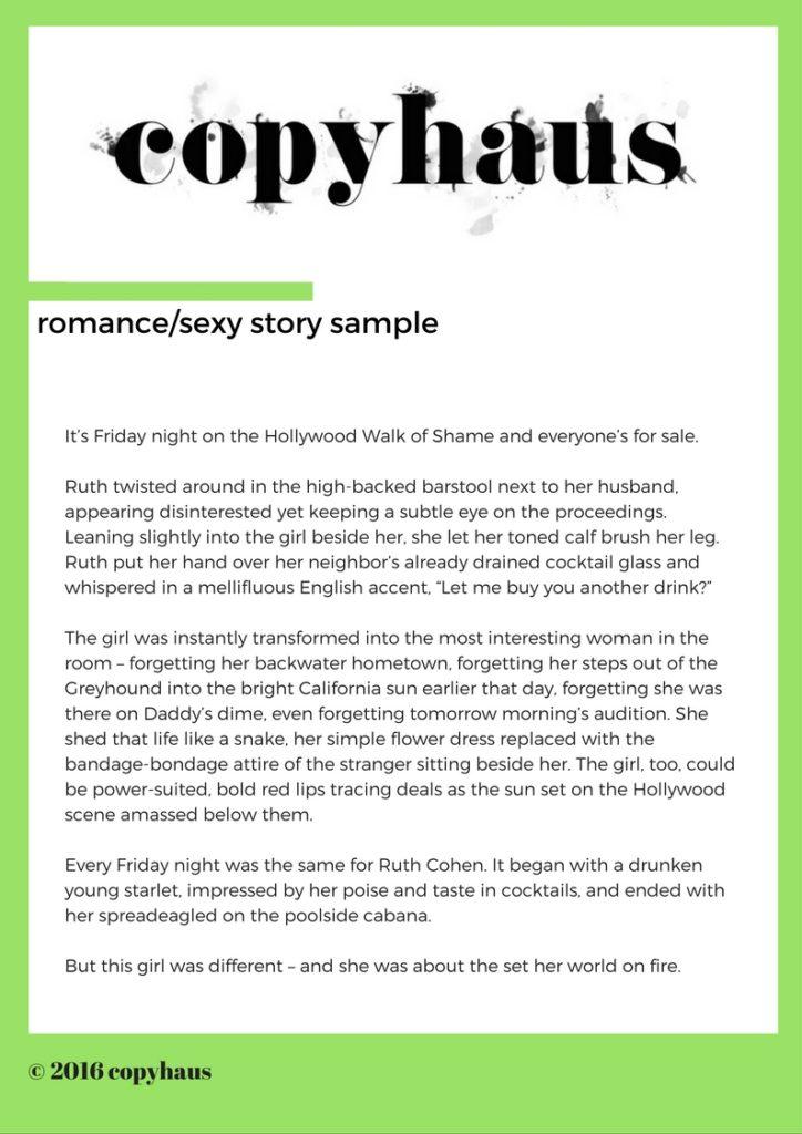 Romance/Sexy Story Sample